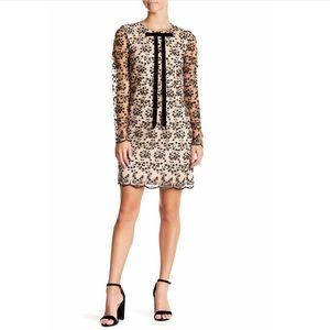 Betsey Johnson Tie Detail Embroidery Dress Size 14
